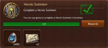 Heroic summon