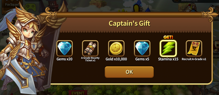Heroes Wanted Captains Gift Rewards
