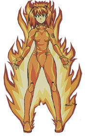Mangaverse Torch Flame on by MnTL