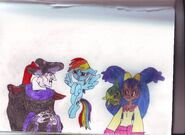 Frollo, Rainbow Dash and Iris0001