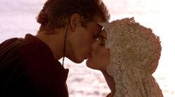 Anakin and Padme kiss