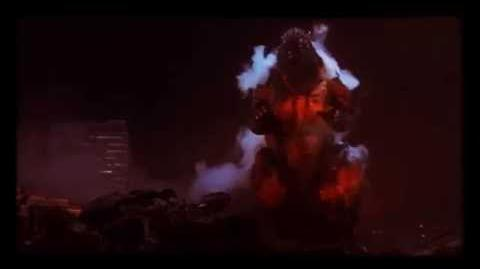 Godzilla Vs. Destroyah (1995) Godzilla Jr;Destroyah;Burning Godzilla's Death Short End Credits