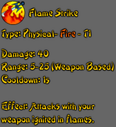 Flame Strike description