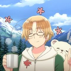 Canada in his first appearance in Hetalia: Beautiful World