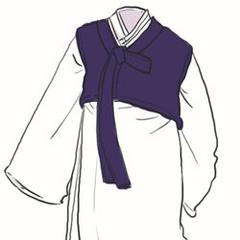 A sketch of his hanbok.
