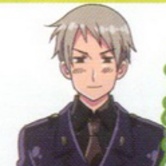 Prussia in his military uniform from the anime.