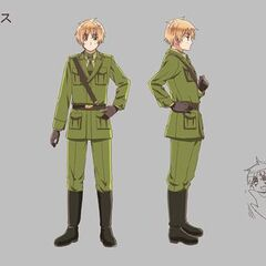 England's anime design for The Beautiful World