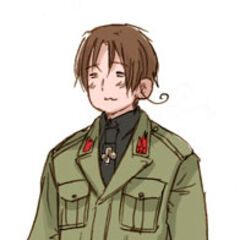 North Italy in a WWII corporal MVSN uniform (from Himaruya's series of WWII uniform sketches).
