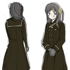 A color draft of the Asia Class girls' uniform.