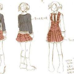 An earlier draft of the standard girls' winter uniform.