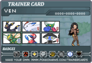 Pokemon AU Card