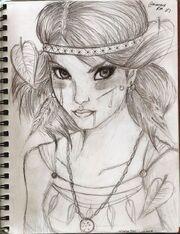 Native american girl by whenangelscries-d4lpct7