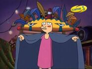Helga as Football Head worshipper
