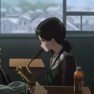 Haruka practice a Baritone Sax