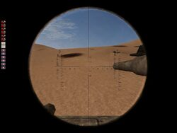 KwK 36 - Panzer III iron sights