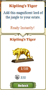 Questitem Kipling's Tiger-Inventory