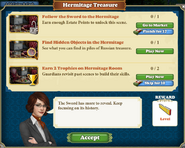 Quest Hermitage Treasure-Tasks