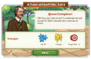 Quest A Taste of ChefVille 3-Rewards