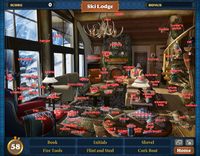 FastFind Scene Ski Lodge-Map