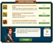 Quest Artifact Collections-Tasks