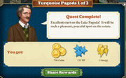 Quest Turquoise Pagoda 1-Rewards
