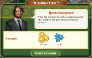 Quest Kipling's Tiger 7-Rewards