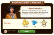 Quest Rendez-vous Deja Vu Part One 1-Rewards
