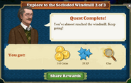 Quest Explore to the Secluded Windmill 2-Rewards