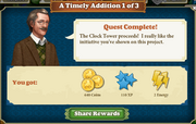 Quest A Timely Addition 1-Rewards