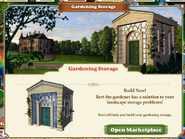 Gardening Storage quest 1st page