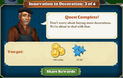Quest Innovation in Decoration 3-Rewards