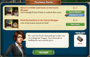 Quest Curious Curio-Tasks