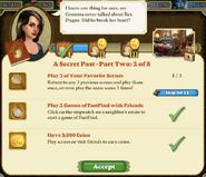 Quest A Secret Past-Part Two 2 of 8-Tasks