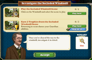 Quest Investigate the Secluded Windmill-Tasks