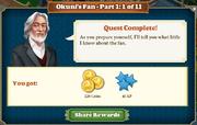 Quest Okuni's Fan Part One 1-Rewards