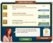 Quest Party Time 2-Tasks