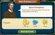 Quest Barn Raising 2-Rewards