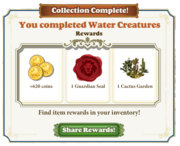 Collection Water Creatures-Completed