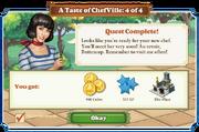 Quest A Taste of ChefVille 4-Rewards