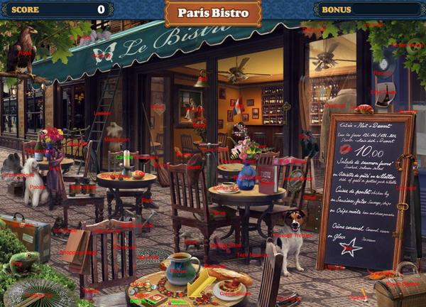 Scene Paris Bistro-Map