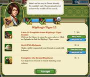 Quest Kipling's Tiger 12-Tasks