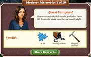 Quest Mother's Memories 3-Rewards