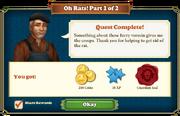 Quest Oh Rats! 1-Rewards