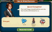 Quest Say It With Flowers-Rewards