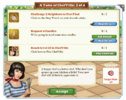 Quest A Taste of ChefVille 3-Tasks