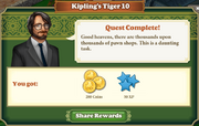 Quest Kipling's Tiger 10-Rewards