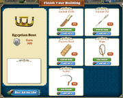 Marketplace Egyptian Boat-infos
