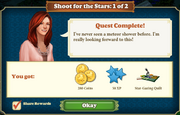Quest Shoot for the Stars 1-Rewards