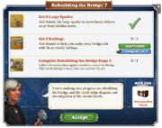 Quest Rebuilding the Bridge 7-Tasks