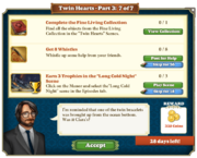 Quest Twin Hearts Part Three 7-Tasks